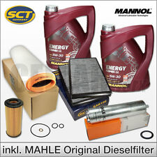 BMW 5er E60 E61 525d & 530d | Inspektionspaket Filterset + 10L MANNOL 5W-30 Öl