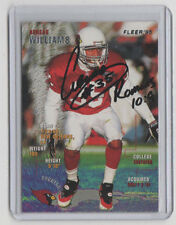 AENEAS WILLIAMS Cardinals 1995 Fleer Football #13 Autograph ON CARD AUTO HOF