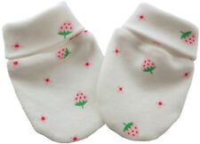 Organic Cotton Newborn Baby Anti Scratch Mittens Gloves Pattern Strawberries