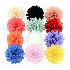 12xBaby Mädchen Bögen Chiffon Blume Haarspange Mädchen Kleinkind Babys Haarnadel