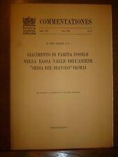 ZANON GIACIMENTO FARINA FOSSILE BASSA VALLE ANIENE SEDIA DEL DIAVOLO ROMA 1944