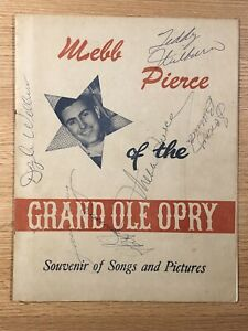 Webb Pierce Grand Ole Opry Souvenir Booklet Autographed Signed Multiple Artists