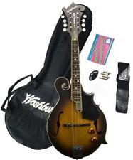 New Washburn M3EK F-Style Acoustic Electric Mandolin Package Combo Sunburst