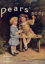 VINTAGE STYLE  PEARS SOAP  QUALITY  CANVAS PRINT