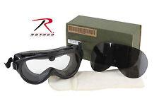 New Genuine GI Government Surplus Sun Wind Dust Ballistic Lens Goggles USA Made