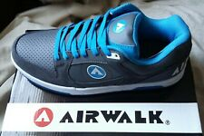 NEW Mens Airwalk Throttle Skate Shoe Trainer Sneaker UK 9 Charcoal Grey/Blue