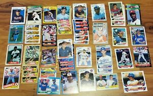 (Lot of 58 assorted cards) 1982 to 1993 Topps Donruss Fleer Rookie Cards NM-MT