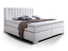 Boxspringbett 160x200 weiss weiß H2 Boxspring Bett Doppelbett Hotelbett ISABELL