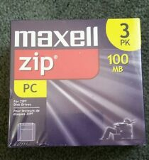 Maxell Zip Disk for PC 100 MB Sealed