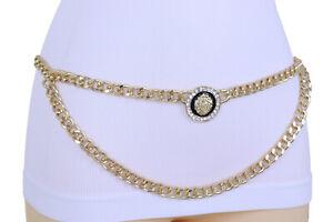 Women Elegant Look Fashion Hot Belt Gold Metal Chain Lion Charm Plus Size XL XXL