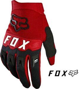 NEW Fox Racing Dirtpaw MTB BMX MX Glove Red/Black Youth Small Full Finger