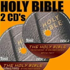 KING JAMES VERSION HOLY BIBLE OLD & NEW TESTAMENT MP3 AUDIO AND TEXT NEW CDs KJV
