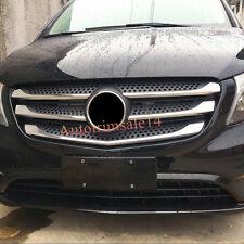 5*ABS Chromed Front Center Radiator Grille Mouldings For Mercedes Vito 2014-2017