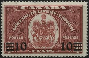Canada 1939 E9 10c on 20c  dark carmine Special Delivery Mint Hinged