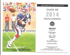 2014 Andre Reed goal line art card Buffalo Bills