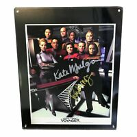 Star Trek Voyager Crew Rare Official Print Autographed 3 Signatures with Cert...