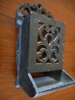 Black Cast Matchbox Wall Vintage Style Ornate Hanging Fireplace Woodburner Cabin