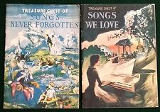 2  Book Lot Treasure Chest Song 1936 Songs We Love  1937 Songs Never Forgotten