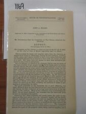 Govt Report Civil War 1861 Refund of Direct Tax-Returned to Territories #1170