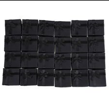 24 Pcs Ring Earring Jewelry Display Gift Box Bowknot Square Case black Q5K4 FSA