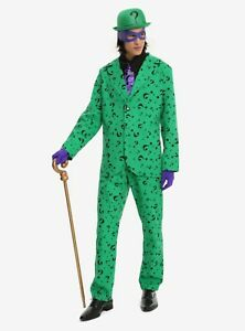 DC COMICS THE RIDDLER MEN'S COSTUME licensed NWT Size Medium by Charades