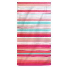 Printed Hand Drawn Stripes Beach Towel Coral - Multi-Colored - Evergreen - NWT