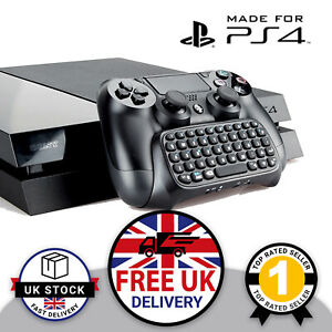 PS4 Wireless Controller Keyboard PlayStation ChatPad GamePad Bluetooth KeyPad UK