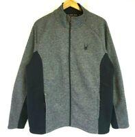 NWT/NEW SPYDER Men's Gray/Black Foremost Full Zip Fleece Lined Jacket M,L,XL,2XL