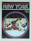 October 9, 1971 Hockey Magazine Program New York Rangers