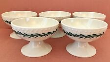 Walker China Footed Desert Cups, Ice Cream Bowls, Garland Pattern, Set of 5