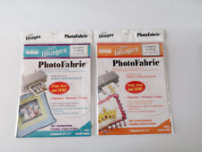 """Lot of 2 BLUMENTHAL Crafters Images Photo Fabric 8.5"""" X 11"""" for Inkjet"""
