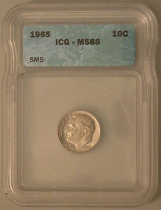 1965 SMS Roosevelt Dime - Grade by ICG MS68.
