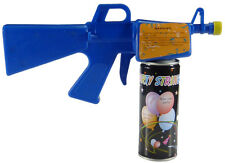 BLASTER GUN FOR SILLY CRAZY PARTY STRING with two  (3oz) can of party string