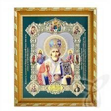 Ikone Heilige Nikolaus Holz 21x18 K Николай Чудотворец Святитель 1 икона