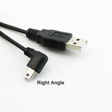 1x USB 2.0 A Male to Mini B 5Pin Right Angled 90 Degree Male Spiral Coiled Cable