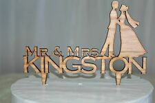 Personalised Wedding Cake Topper Mr & Mrs Surname Custom Made , bride & groom