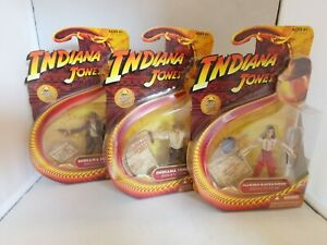 3 Hasbro Indiana Jones Raiders the Lost Ark Action Figure 2008 MOC harrison ford