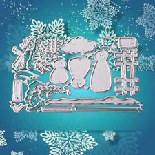 Christmas Tree Snowman Cutting Dies Stencil DIY Scrapbooking TOP Album Card L5S2