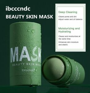 Green STICK Tea Clay Solid Mask Whitening Hydrating Anti-Acne Deep Cleaning UK