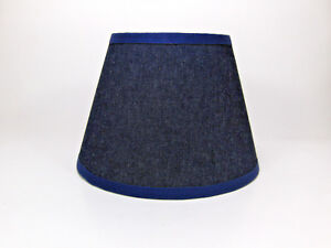 Country Primitive Navy Denim Jean Fabric Lampshade Lamp Shade