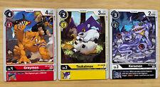 Digimon Card Game Tamer Party Vol. 3 ArtSet Greymon Tsukaimon And Keramon