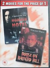 HORROR HOTEL / HOUSE ON HAUNTED HILL. NEW DVD. REGION ALL. UK DISPATCH
