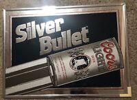 Vintage 1988 Coors Light Silver Bullet Advertising Mirror Bar Sign