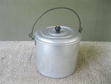 Vintage Aluminum Berry Bucket Lunch Pail with Lid WEAR-EVER Cook Pot Bail Handle