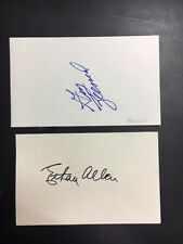 Ethan Allen Signed Index Card 1926-30 with KevinSavage Cards/Auction COA