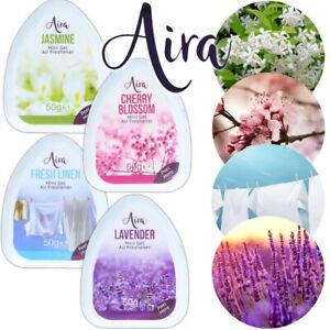 VALUE PACK 4x MINI Gel Air Fresheners NON TOXIC Strong Scent Home Living Room