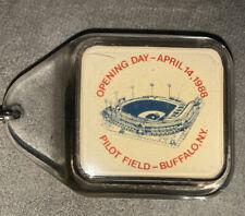 Pilot Field Opening Day Buffalo NY Bisons Baseball Keychain April 14, 1988