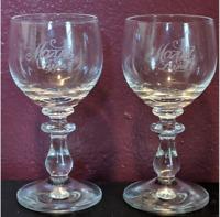 Mozart Liqueur Glass Set of 2 Mini Chalice Vintage Stemware