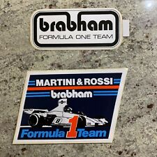OLD MARTINI & ROSSI BRABHAM FORMULA ONE TEAM F1 RACING STICKERS