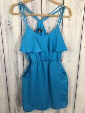 City Triangles NWT Womens Dress Short Size Small Blue Pockets Stretch No Belt